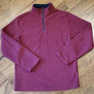 Boys burgundy fleece pullover size 10/12